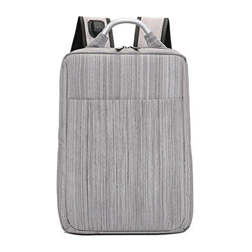 KKCD Laptop-Rucksack Männer Frauen Anti Theft Multifunktions-beiläufiger Laptop-Rucksack mit USB-Gebühr Wasserdichte Reisetasche Notebook Laptop (Farbe : Gray)