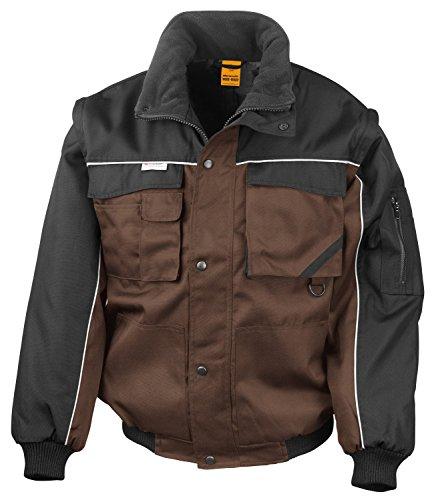 Preisvergleich Produktbild RT71 Workguard Heavy Duty Jacke Arbeitsjacke winddicht wasserabweisend, Farbe:Tan-Black;Größen:XL XL,Tan-Black