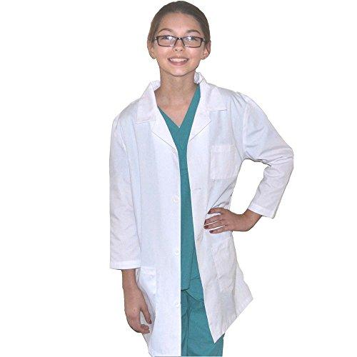 für Kinder, Super für Kunst- und Wissenschaftsprojekte, schönes Kostüm, Größen 110 bis 164 Gr. 39-40, weiß (Lab Coat Kostüm Kind)