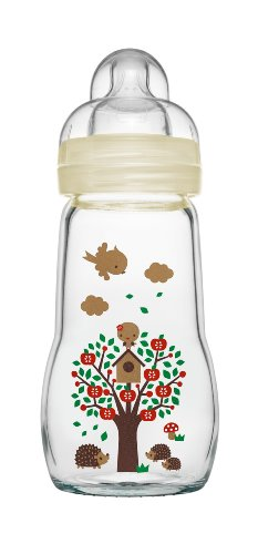MAM 67036720 - Feel Good Glass Bottle 260 ml, Glasflasche Neutral