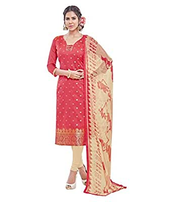 Shree Ganesh Retail Womens Banarasi Jacquard Siut Salwar Kameez Unstitched Dress Material (3012)