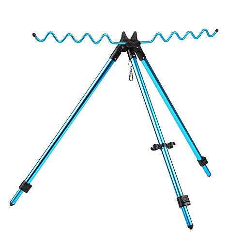 Lixada Angelruten Dreibein Stativständer Tragbar Teleskop-verstellbar Angelrute Pole Halter