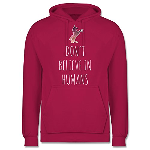 Nerds & Geeks - Don't believe in humans - Männer Premium Kapuzenpullover / Hoodie Fuchsia