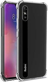 Redmi 9A/ Crystal Clear Case, Soft TPU Bumper haed Clear Cover Case