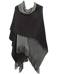 Discoball® Femmes Lady d hiver Chaud Tricot Écharpe Châle Cape Poncho  Franges Couverture Vintage 1e78c06b2d5
