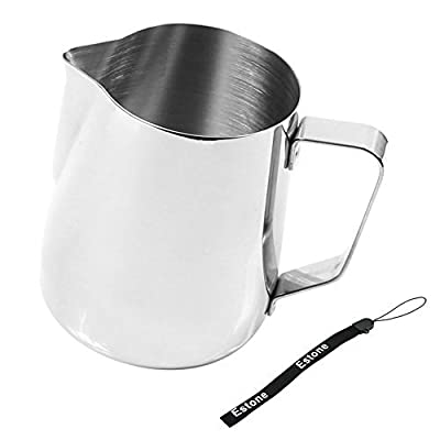 Estone Kitchen Craft Barista Espresso Coffee Frothing Tea Milk Latte Jug Thermometer (350ml Jug)