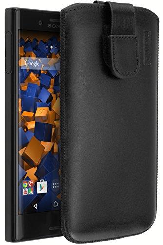 mumbi ECHT Ledertasche Sony Xperia XCompact Tasche Leder Etui (Lasche mit Rückzugfunktion Ausziehhilfe)