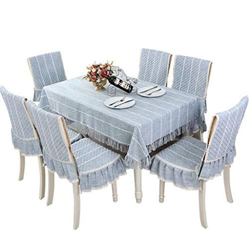 Nappes Minimalistes Modernes Rectangulaires Plaids Café Café Ménage Coton Et Lin (Color : Blue, Size : 110 * 160 cm)