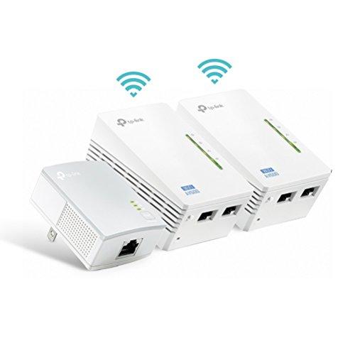 TP-Link TL-WPA4220T KIT AV600 WiFi N300 Powerline Netzwerkadapter(300 Mbit/s, 5 Ports, Plug & Play, Kompatibel mit Adaptern anderer Marken, 3er Set) weiß