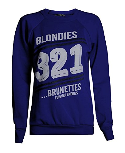 Fast Fashion - Sweatshirt Haut Brooklyn 76 Los Angeles Et Work Out Imprimer Toison - Femmes Blonde Bleu Royal