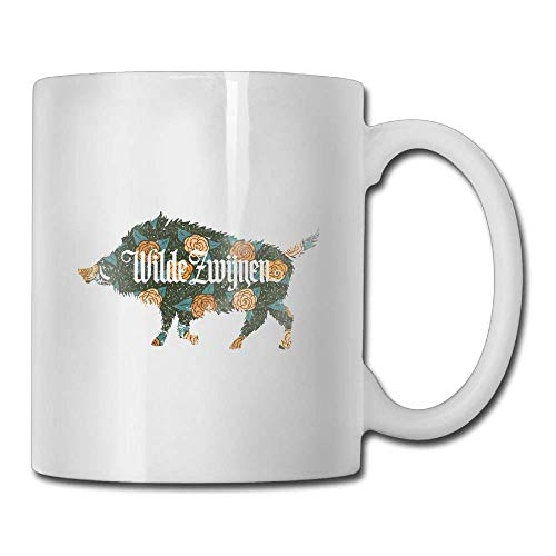 TEPEED Rose Wilde Pig Special Coffee/Tea Mug.Birthday Gift for Men&Women,Mom,Dad,Sister,Boyfriend Wild Roses Bone China