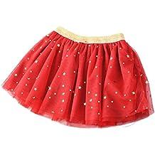 Free Fisher Niñas Falda Vestido de hada flores capas Tutú Ropa de Baile Fiesta Causal con puntos brillantes