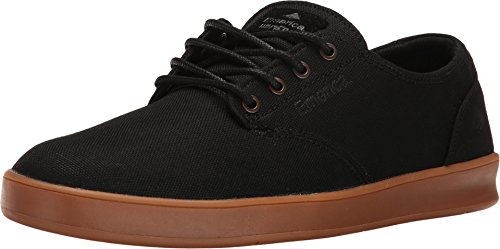 Emerica The Romero Laced, Chaussures de skateboard homme Black/Grey/Gum