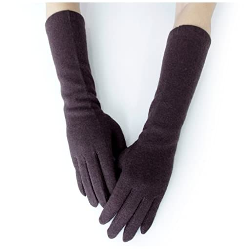 GSG Gifts Womens Warm Knitted Gloves Mittens Arm Warmer Gloves Touchscreen Knit Gloves Long or Mid Length