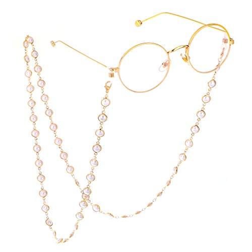 Fauhsto Brillenketten für Lesebrillen Perlen Brillen Cord Brillenband Damen Lesebrille Brille,Brillenbänder Kette Lesebrillen Band Brille Cords Hals Cord Gläser Dekorative, Strickjackekette