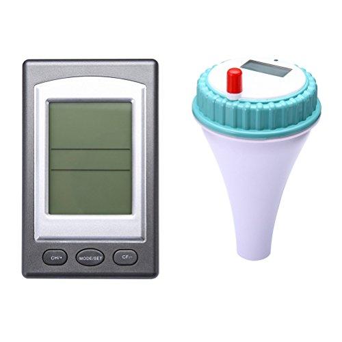 VORCOOL Poolthermometer Funk Digital Schwimmbadthermometer für Aquarium Schwimmbad Spa Wasser