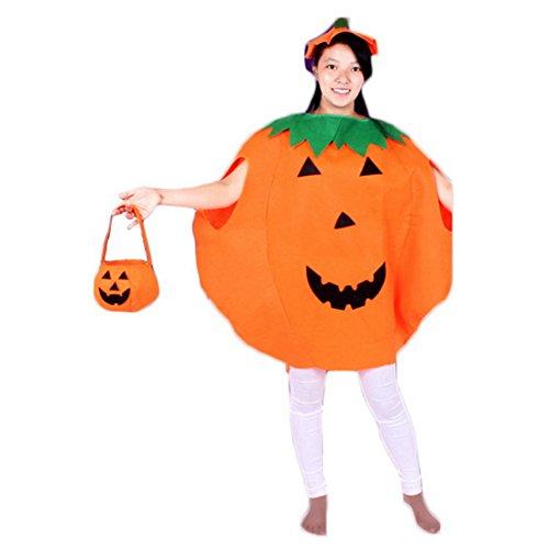 Allerheiligen Party Kostüm - Aelegant Halloweenkostüm Erwachsene/Kind Halloween Allerheiligen Kostüm Kürbis Kostüm-Set Party Wear Unisex mit Hut