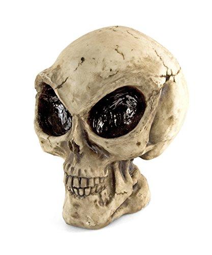 oration Außerirdischer Skull Skulptur Horror Skelett 23cm Space Invasion Dead Heaven Hell Hölle Satan Teufel Gothic Wings Halloween (Außerirdischer Halloween)