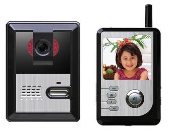 NEW WIRELESS SMART SCEURITY 2.4 INCH LCD COLOUR VIDEO DOOR PHONE, HANDS FREE INTERCOM, ACCESS CONTROL SYSTEM RRP £249.99