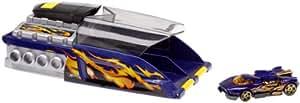 Mattel - H6996 - Voiture Miniature - Hot Wheels® - Double Super Lanceur - Accessoire - 2X Turbo Power(TM) - Bleu