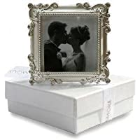 Decorative Metal Silver Photoframe with Diamonte Stones by Unravel A Gift
