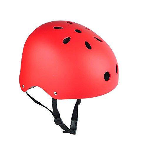 Larcele Erwachsener Multi-Sport Halbhelm AQTK-01 (S, Rot)