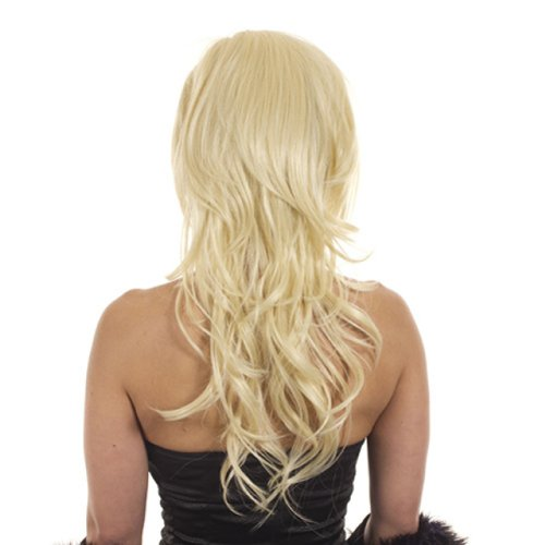 Hair By MissTresses, hitzefest Hälfte Perücke Extensions Haarteil mit backcombed Krone für mehr Volumen, MONROE Hellblond - Crown Hair Extensions