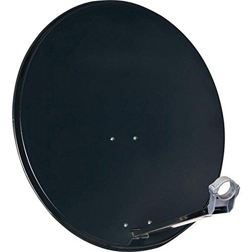 teleropa Satellitenschüssel 80 cm aus Aluminium grau/Sat-Antenne