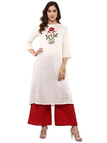 Bhama Couture off white Kurtas for Women(MUGH007)
