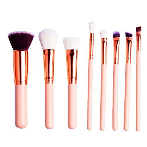 Trousse de pinceaux cosmétiques - pinceaux de maquillage, 15 pinceaux de maquillage professionnels - pinceau à paupières - fard à joues - cache-cernes - pinceaux pour le visage Kabuki, blanche