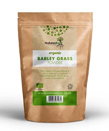 Natures Root Poudre Herbe d'orge Bio250 g -Certifié biologique par la Soil Association