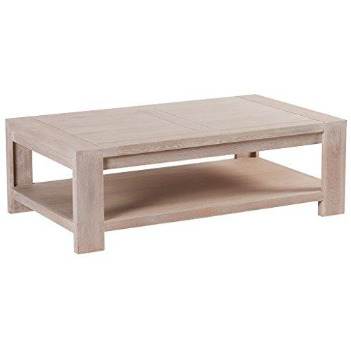 Manufacture Casita Table Basse Double Plateau chêne Massif ciré Blanchi Meuble House