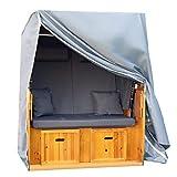 CoverMe Strandkorb Abdeckung - Extrem robust Abdeckhülle & Lange Lebensdauer - Premium Schutzhülle aus 420D Oxford Gewebe - für alle Strandkörbe