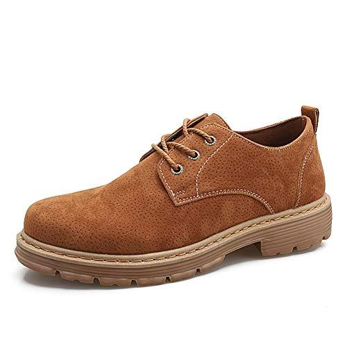 Mode Schuhe, Freizeitschuhe Klassisches Business-Kleid Oxfords for Männer Arbeitsschuhe Schnürschuhe Lässig Spazieren Flache runde Kappe Anti-Rutsch-Schuhe aus veganem PU-Leder mit niedrigem Schaft Pe (Pe-uniformen)
