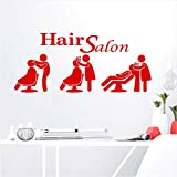 Hwhz 58X25 cm Hair Salon Sticker Shampoo Decal Haircut Posters Vinyl Wall Art Decals Decor Decoration Mural D
