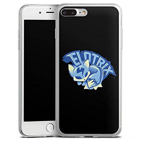 Apple iPhone 8 Slim Case Silikon Hülle Schutzhülle Elotrix Fanartikel Merchandise Youtuber Silikon Slim Case transparent
