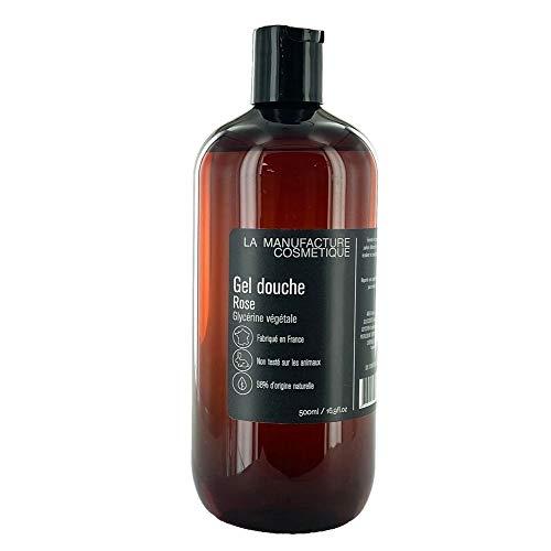 Gel Douche Rose 500ml. Savon Liquide Glycérine Végétale Parfum Frais et Fleuri. Fabriqué en France Non Testé sur les Animaux