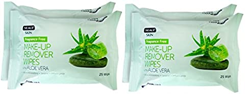 Nuage Skin Fragrance Free Make up Remover Wipes (TWIN PACK)