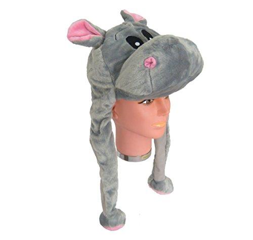 Für Erwachsene Kostüm Dachs (Tiermütze Plüsch Mütze Nilpferd -)