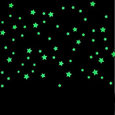 Wall Sticker, Xinantime 100PC Beautiful Fluorescent Glow In The Dark Stars Wall Stickers