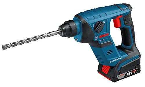 Bosch 18 V Compact SDS Bohrhammer Kit 2 x 2,0 Ah, 1 Stück, GBH18V-LICompact