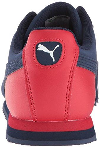 PUMA Men s Roma Basic Sneaker  Peacoat-Ribbon Red White  7 M US