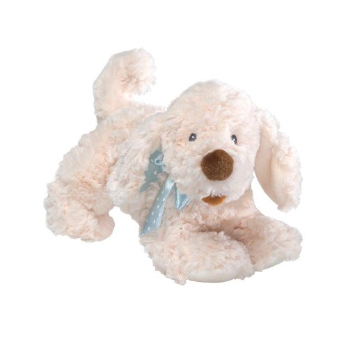 30cm Gund Baby Aussie Doggie With Baby Blue Polka Dot Ribbon - Toy Dogs - Soft Plush Toys
