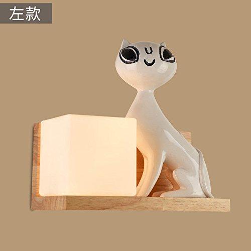 Modernes Wandleuchten Vintage Loft-Wandlampen Wandbeleuchtung Japanischen Stil Schlafzimmer Wandleuchte Nachttischlampe Kreative Massivholz Quadrat Holz Lampe Gang Lampe Schlafzimmer Wandleuchte -
