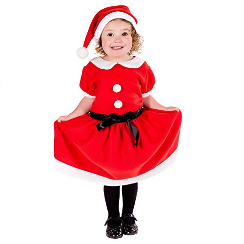 Fun Shack FNK4582-304 Kostüm, Girls, Santa Dress, L (Santa Girl Kostüm Kinder)