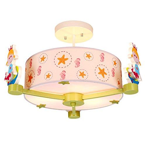 Chambre moderne pour enfants chambre à dessin animée pour les yeux chaud Luminaires LED pour chambre à coucher Lustre créatif Lampes simples pour étoiles