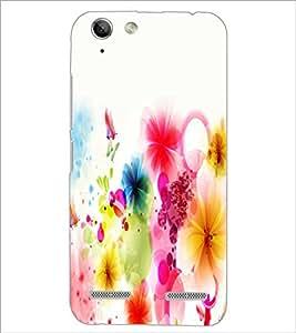 PrintDhaba Coloured Flower D-2190 Back Case Cover for LENOVO LEMON 3 (Multi-Coloured)