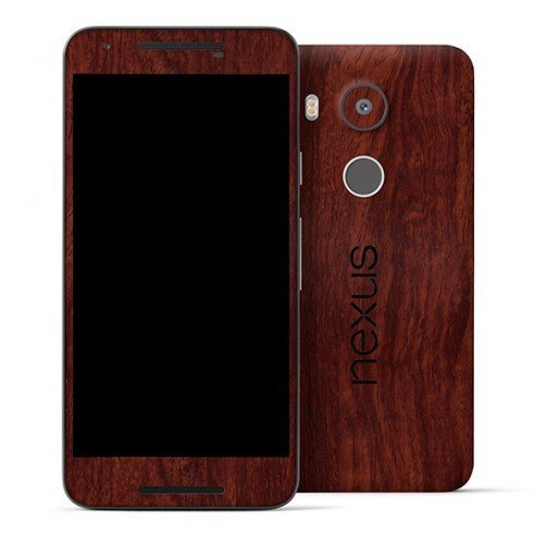 GADGETS WRAP Google Nexus 5X Wooden Mahogany Skin for Full Body Back & Front -CO- A9A08