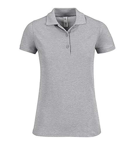 Camicia Polo Donna Safran Timeless Pique Shirt Poloshirt Heather Grey