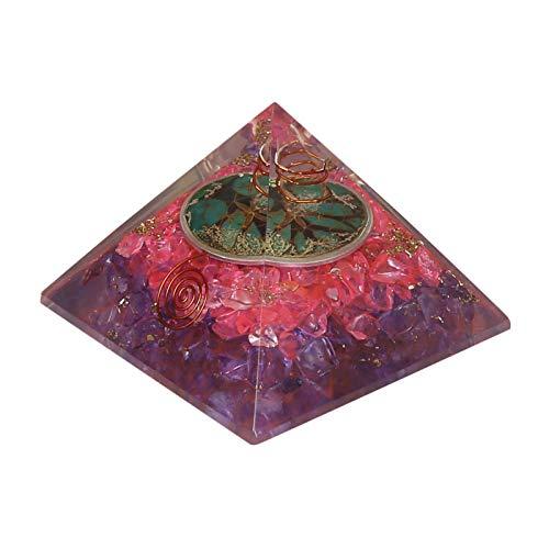 Craftstribe quarzo rosa gemstone piramide di pietra dell'ufficio della decorazione spirituale generatore di energia